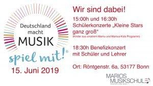 """Aktionstag """"Deutschland macht Musik"""" @ Marios Musikschule"""