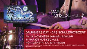 Drummers Day - Das Schülerkonzert @ Marios Musikschule | Bonn | Nordrhein-Westfalen | Deutschland