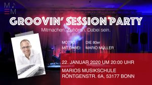 Groovin' Session Party @ Marios Musikschule | Bonn | Nordrhein-Westfalen | Deutschland