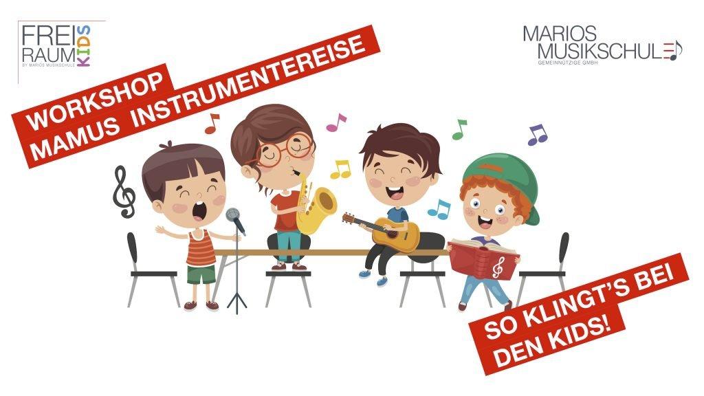 Kinder-Workshop: Mamus Instrumentenreise @ Marios Musikschule | Bonn | Nordrhein-Westfalen | Deutschland
